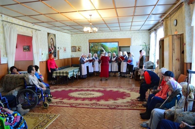 Пасхальный концерт в Доме милосердия пос. Уральский