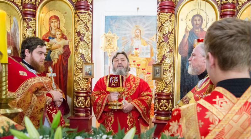 Архиерейское богослужение в храме Царственных мучеников г. Ижевска