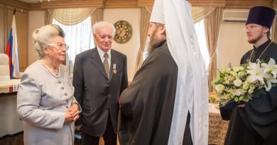 Митрополит Викторин поздравил Валентина Кудинова с 85-летием