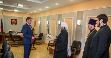 Управляющий епархией поздравил Главного федерального инспектора по УР с днем рождения