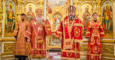 Архиерейское служение в день Усекновения главы Иоанна Предтечи