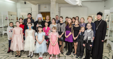 Представители епархии вместе с детьми из социального реабилитационного центра посетили выставку «Рождественская гостиная»