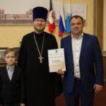Михаило-Архангельский собор был отмечен грамотой за участие в конкурсе на новогоднее оформление территории