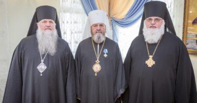 Правящие архиереи Удмуртской митрополии поздравили митр. Викторина с 65-летием