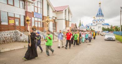 Состоялся пеший крестный ход в Ризоположенский женский монастырь
