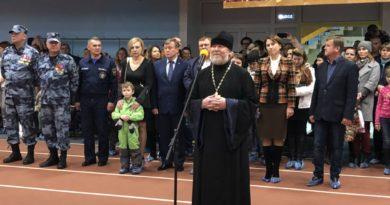 Священник принял участие в церемонии посвящения в курсанты