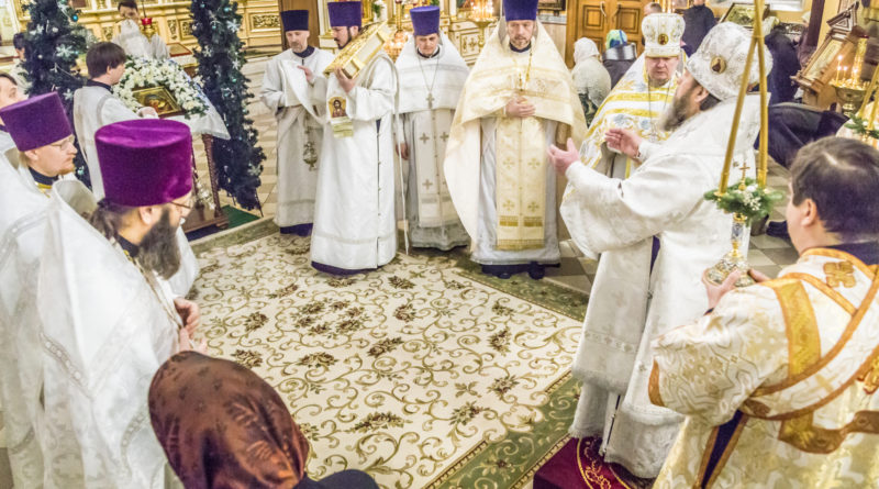 На третий день после Рождества митр. Викторин посетил Александро-Невский собор