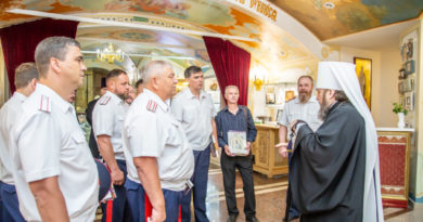 Митр. Викторин встретился с атаманами Волжского войскового казачьего общества