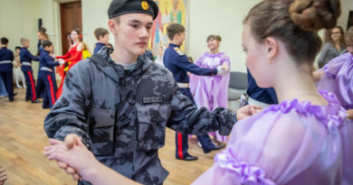 В Духовно-просветительском центре прошел казачий кадетский бал